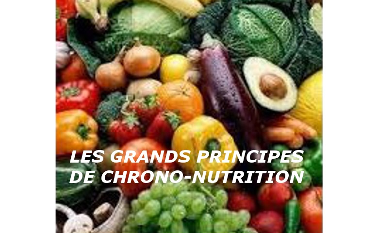 LES GRANDS PRINCIPES DE CHRONO-NUTRITION